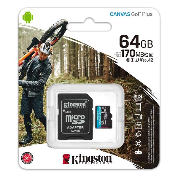 Kingston 金士頓 64GB 64G microSDXC TF UHS-I U3 V30 A2 記憶卡 SDCG3/64GB