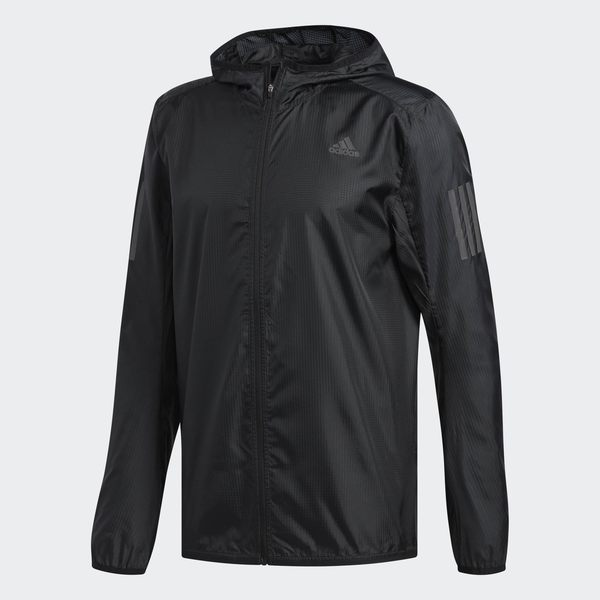 ADIDAS response jacket 男裝 外套 連帽 慢跑 訓練 輕薄 透氣 舒適 黑【運動世界】DN8763