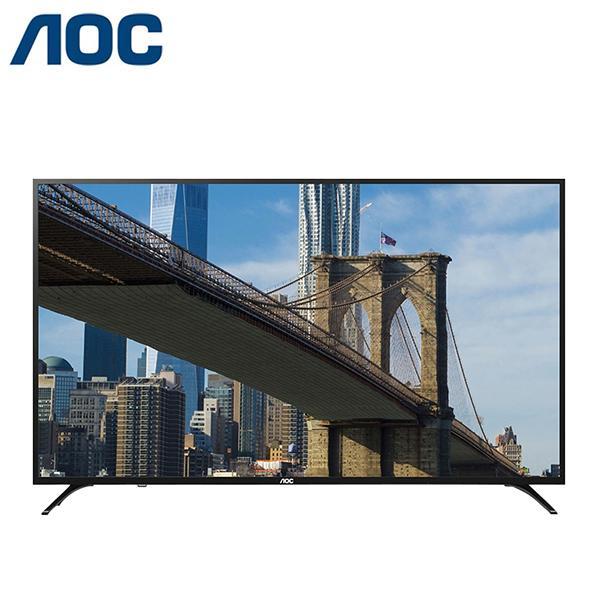 美國AOC 65吋 4K UHD 聯網淨藍光 LED液晶顯示器+視訊盒