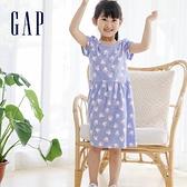 Gap女幼童 Gap x Disney 迪士尼系列純棉短袖洋裝 685586-藍色條紋