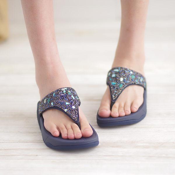 厚底女涼鞋 藍 夏季 女款涼鞋《生活美學》