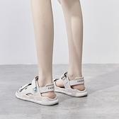 運動涼鞋女2021年新款夏季百搭鞋子平底軟底輕便舒適孕婦沙灘女鞋 夢幻小鎮