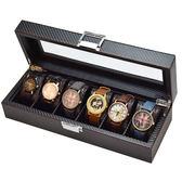 高檔黑色碳纖維手錶太陽眼鏡首飾收納盒手錶手鐲柜臺展示架展示