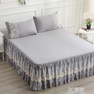 新款夏季蕾絲床罩裙式荷葉邊1.8米床裙單件防滑1.5床群防塵罩 3C優購
