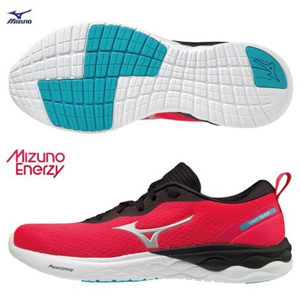 MIZUNO WAVE REVOLT 女鞋 慢跑 休閒 3E寬楦 ENERZY中底 回彈 粉【運動世界】J1GD208504