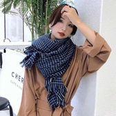 【REICO HSU 許瑋玲】格紋圍巾(藍色)