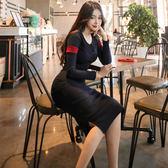 秋裝新氣質時尚女神范裙子職場名媛白領OL連身裙韓版女裝848PF5F-515快時尚