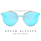 時尚半金屬太陽鏡 創意款連體片墨鏡 太陽眼鏡【五巷六號】y35