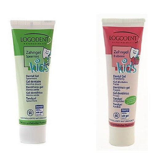 【奇買親子購物網】LOGODENT Kids兒童牙膏 50ml綠薄荷/草莓