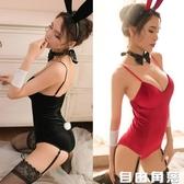 情趣內衣女性感制服開襠連體衣金絲絨兔女郎角色扮演誘惑激情套裝  自由角落