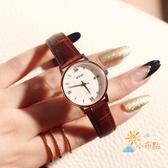 香港艾奇EYKI簡約復古大方學院風女士防水皮帶手錶禮物石英錶WY