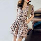 連身裙 連身裙套裝女夏裝時尚工裝短褲小個子氣質雪紡連身裙洋氣 晶彩 99免運