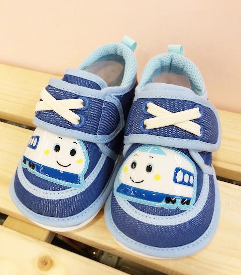 【震撼精品百貨】Shin Kan Sen 新幹線~台灣製新幹線正版兒童啾啾布鞋-藍色(12.5~15號)