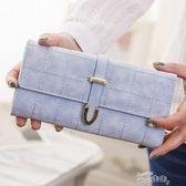 手拿包女長款簡約學生大容量女式錢夾韓版新款時尚多功能三折手拿包 【四月特賣】