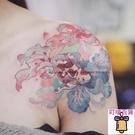 手繪浮世繪日式金魚紋身貼 女肩膀日式持久【萬客居】