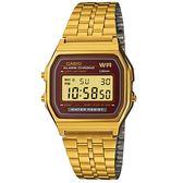 CASIO A159WGEA-5 復古風潮金屬電子錶 A159WGEA-5DF 熱賣中!