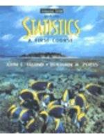 二手書博民逛書店《Statistics:A First Course》 R2Y