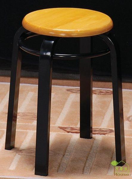 [ 家事達] TMT 實木扁管加圈餐椅 (TDE202) x3
