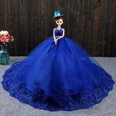 (中秋大放價)大號芭芘比洋娃娃套裝婚紗大禮盒衣櫥擺件公主女孩兒童玩具新年禮物3D