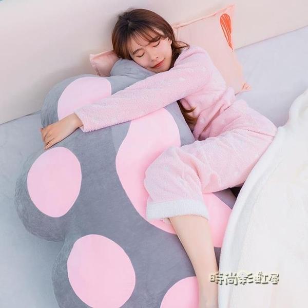 貓咪肉球床頭靠枕可拆洗榻榻米軟包公主情侶雙人床頭長靠墊大靠背MBS「時尚彩紅屋」