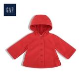 Gap女幼童亮色紐扣開襟連帽外套529764-摩登紅色