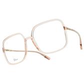 DIOR 光學眼鏡 SO STELLAIRE O1 35J (透粉) 透亮氣質 方框 齊恩世 配戴款 鏡框 鏡架 # 金橘眼鏡