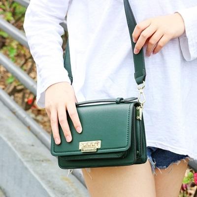 手提包-純色時尚簡約小方包百搭女肩背包3色73sb36【巴黎精品】