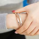 Qmigirl 韓版 相信自己正能量手環 英文字母 玫瑰金手環 銀色手環【G1928】