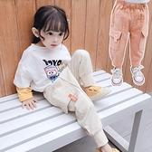 女童裤 女童工裝褲秋裝2020新款韓版洋氣小童褲子女孩寶寶兒童加絨運動褲【快速出貨八折搶購】