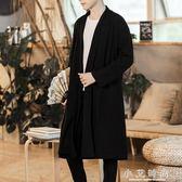 中長款風衣男薄款中國風外套日系社會人帥氣披風加大碼原宿潮 小艾時尚