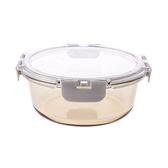 HOLA 安珀耐熱茶玻璃圓形保鮮盒900ml