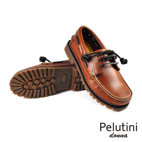 【Pelutini】donna女款經典雷根鞋 褐色(6735W-TAN)
