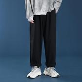 直筒褲褲子女寬鬆直筒鹽繫日繫直筒褲闊腿褲2020新款黑女裝西裝褲工裝褲 雙11 伊蘿
