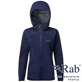 【RAB 英國】女 KINETIC 單件式軟殼防水外套『藍圖』QWF76 雨衣│釣魚外套│夾克│慢跑路跑外套