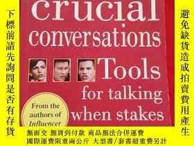 二手書博民逛書店Crucial罕見Conversations:Tools for Talking When Stakes Are