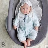 滿月服嬰兒秋裝衣服男寶寶連體衣秋冬季嬰幼兒網紅可愛外出套裝保暖滿月 限時特惠