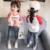 黑五好物節   兒童女童T恤2018新款1韓版4純棉長袖0-3女寶寶t恤春秋裝打底衫潮5  mandyc衣間