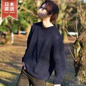 圓領針織衫 素色毛衣 寬版上衣