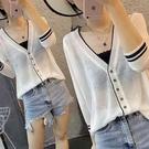 防曬服寬鬆外穿開衫外套2021年新款夏季防曬衣女冰絲針織上衣百搭 依凡卡時尚