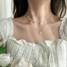 冷淡風雙層珍珠項鍊女潮網紅輕奢小眾設計氣質簡約鎖骨鍊頸鍊 【99免運】