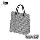 手提袋-編織袋(S)-黑白-03C