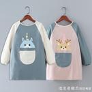 兒童防水長袖圍裙定制logo男女寶寶吃飯罩衣幼兒園美術畫畫衣印字 蘿莉新品