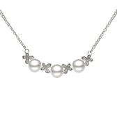 項鍊 925純銀珍珠吊墜-唯美氣質生日情人節禮物女飾品2色73dk399【時尚巴黎】