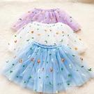 女童半身裙 女童半身裙新款夏季女中大童五色蓬蓬網紗裙公主裙短款百搭小裙子 韓菲兒