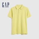 Gap男裝 商務舒適棉質透氣POLO衫 736520-黃色