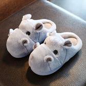 (尾牙交換禮物)創意 兒童棉拖鞋冬男女童拖鞋親子小孩防滑棉拖鞋室內家居可愛一家三口