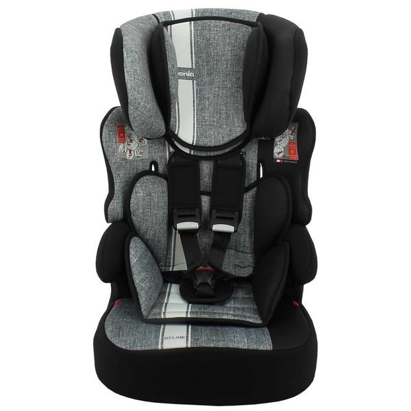 NANIA 納尼亞 (3-12歲)法國旗艦型成長汽座/安全座椅-彩繪系列-條紋灰FB00529[衛立兒生活館]
