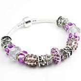 手鍊 串珠-水晶飾品精美鑽珠生日情人節禮物時尚925純銀飾品72l53【時尚巴黎】