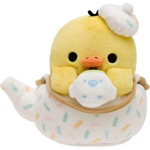 拉拉熊 2016 新品茶壺造型小雞 S號娃娃抱枕 小雞款 San-X Rilakkuma 該該貝比日本精品 ☆