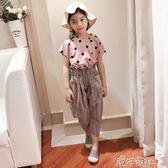 中大童裝女童時尚套裝韓版潮衣兒童洋氣寬管褲兩件套夏裝 港仔會所